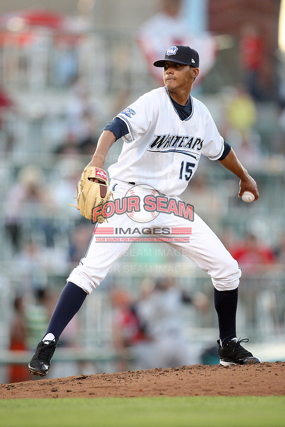 West Michigan Whitecaps Giovanni Soto during the Midwest League All Star Game at Parkview Field in Fort Wayne, IN. June 22, 2010. Photo By Chris Proctor/Four Seam Images