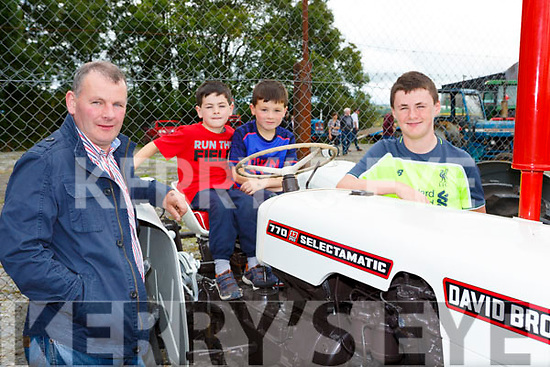 Timmy, Cathal, aDoanla nd Evan Ryan Currow at the Mid Kerry Vintage Rally in Castlemaine on Sunday