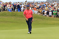Jon Rahm (ESP) on the 17th green during Sunday's Final Round of the Dubai Duty Free Irish Open 2019, held at Lahinch Golf Club, Lahinch, Ireland. 7th July 2019.<br /> Picture: Eoin Clarke | Golffile<br /> <br /> <br /> All photos usage must carry mandatory copyright credit (© Golffile | Eoin Clarke)
