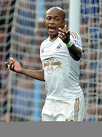 Andre Ayew of Swansea City during the Barclays Premier League match between Aston Villa v Swansea City played at the Villa Park Stadium, Birmingham on October 24th 2015