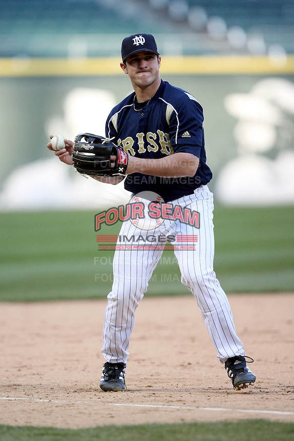 April 15, 2009: Eddy Mendiola (14) of the Notre Dame Fighting Irish at US Cellular Field in Chicago, IL.  Photo by: Chris Proctor/Four Seam Images