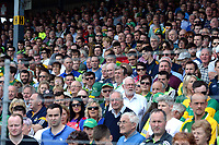 2-7-2017: The crowd in the stand at the Kerry V Cork Munster Football final in Killarney on Sunday.<br /> Photo: Don MacMonagle