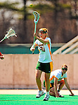 25 April 2009: University of Vermont Catamount defenseman Rebecca Banyard, a Junior from Perth, Australia, in action against the Stony Brook University Seawolves at Moulton Winder Field in Burlington, Vermont. The Lady Cats defeated the visiting Seawolves 19-11 on Seniors Day, Vermont's last home game of the 2009 season. Mandatory Photo Credit: Ed Wolfstein Photo