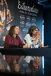 MADRID, SPAIN - DECEMBER 19: Music Band 'Extremoduro', Robe Iniesta and Inaki Anton Announce Their Break on December 19, 2019 in Madrid, Spain.(ALTERPHOTOS/David Jar)