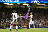Cristiano Ronaldo of Real Madrid attempts an overhead kick during the UEFA Champions League Final match between Juventus and Real Madrid at the Principality Stadium on June 3rd 2017 in Cardiff, Wales. <br /> <br /> Foto Daniel Chesterton / Panoramic / Insidefoto