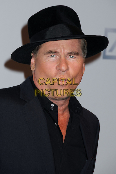 Val Kilmer<br /> The Shakespeare Center of Los Angeles' 23rd Annual Simply Shakespeare held at The Broad Stage, Santa Monica, California, USA.<br /> September 25th, 2013<br /> headshot portrait black hat mouth open<br /> CAP/ADM/BP<br /> &copy;Byron Purvis/AdMedia/Capital Pictures