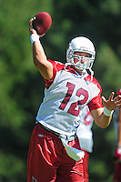 Jul 30, 2008; Flagstaff, AZ, USA; Arizona Cardinals quarterback Anthony Morelli during training camp on the campus of Northern Arizona University. Mandatory Credit: Mark J. Rebilas-