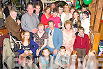 Joan Brosnan Shanara, Kilgobnet, Beaufort seated second on left celebrates her 65th birthday with her family and friends in Sheila O'Neill bar, Killorglin on Friday night...