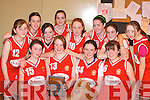 Killarney Cougars the Kerry Area Basketball Board under 14 Girls Division 3A League Champion's who competed in the girls basketball blitz in the Presentation Gym Killarney on Saturday front row l-r: Michaela Looney, Marian O'Shea, Zoa McHale, Lucy Lyne. Back row: Sharon Ahern, Fiona Lacey, Anissa Fleming, Michelle O'Connor, Chloe O'Doherty, Aine O'Riordain, Katie O'Leary and Keelin O'Sullivan     Copyright Kerry's Eye 2008