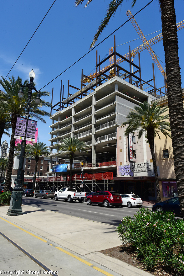 Construction on Canal Street continues with Hostel and Hard Rock Cafe and Hotel