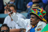A Sri Lankan fan during day one of the 2nd cricket test match between the New Zealand Black Caps and Sri Lanka at the Hawkins Basin Reserve, Wellington, New Zealand on Saturday, 3 February 2015. Photo: Dave Lintott / lintottphoto.co.nz
