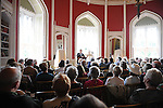 Henry Conyngham 8th Marquess Conyngham speaking at the Ledwidge evening at Slane castle. Photo: Colin Bell/pressphotos.ie