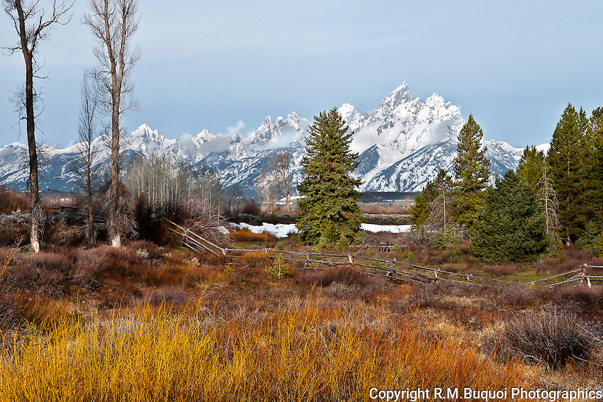 Grand Tetons with Fence