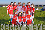Allianz Cumann na mBunscol - St Brendan's National School, Blennerville Girls team front l-r Emily O'Donoghue, Ella Breen, Jade Harkin, Sophie O'Donoghue, Back l-r  Aiofe Kelliher, Ellen Wallace, Kate O'Connor, Julie Foley , Alannah Blennerhassett, Tera Kelly in the  Prelimenary rounds of the Brendans Board mini sevens at Ballickrard Healy Park on Tuesday