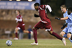 25 November 2012: FDU's Nico Wright (JAM). The University of North Carolina Tar Heels played the Farleigh Dickinson Knights at Fetzer Field in Chapel Hill, North Carolina in a 2012 NCAA Division I Men's Soccer Tournament third round game. UNC won the game 1-0 in overtime.