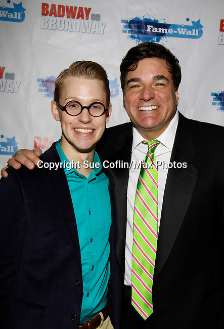 Dale Badway sings and hosts New Year's Eve 2016 and Times Square Ball Drop and poses with Aaron Darr at The Copacabana, New York City, New York. (Photo by Sue Coflin/Max Photos)  suemax13@optonline.net
