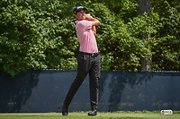 Webb Simpson (USA) watches his tee shot on 9 during 3rd round of the 100th PGA Championship at Bellerive Country Club, St. Louis, Missouri. 8/11/2018.<br /> Picture: Golffile | Ken Murray<br /> <br /> All photo usage must carry mandatory copyright credit (&copy; Golffile | Ken Murray)