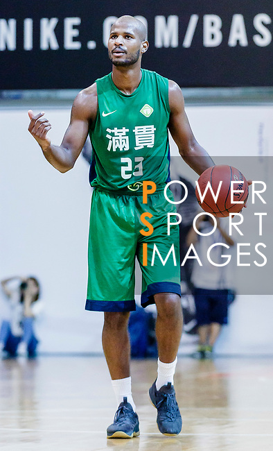 Austin Bryant M #23 of Tycoon Basketball Team dribbles the ball up court against the HKPA during the Hong Kong Basketball League game between HKPA and Tycoon at Southorn Stadium on June 22, 2018 in Hong Kong. Photo by Yu Chun Christopher Wong / Power Sport Images