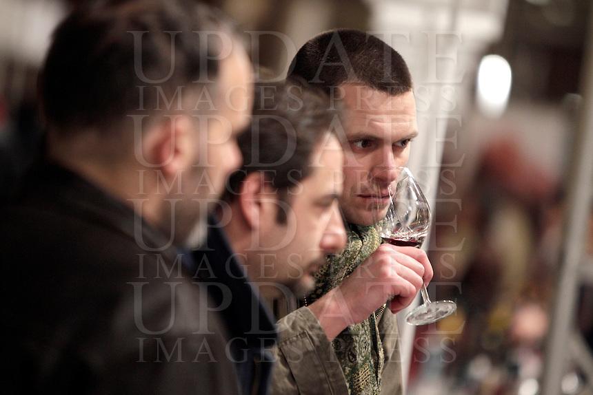 Sense of Wine, rassegna enogastronomica dedicata ai migliori vini della produzione italiana, a Roma, 19 gennaio 2013..Sense of Wine, oenological and gastronomical exhibition and tasting of the best Italian wines, in Rome, 19 January 2013..UPDATE IMAGES PRESS/Riccardo De Luca
