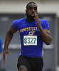 Corey Bull of Roosevelt sprints to victory in the boys 55 meter race during the Nassau County Class B indoor track and field championships and state qualifiers at St. Anthony's High School on Tuesday, Feb. 7, 2017.