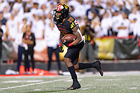 College Park, MD - SEPT 27, 2019: Maryland Terrapins running back Javon Leake (20) returns a kickoff during game between Maryland and Penn State at Capital One Field at Maryland Stadium in College Park, MD. The Nittany Lions beat the Terps 50-0. (Photo by Phil Peters/Media Images International)