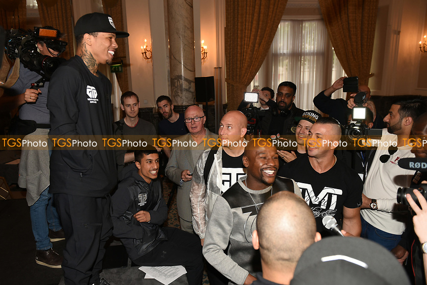 Gervonta Davis (L) looks on during a Press Conference at the Landmark Hotel on 18th May 2017