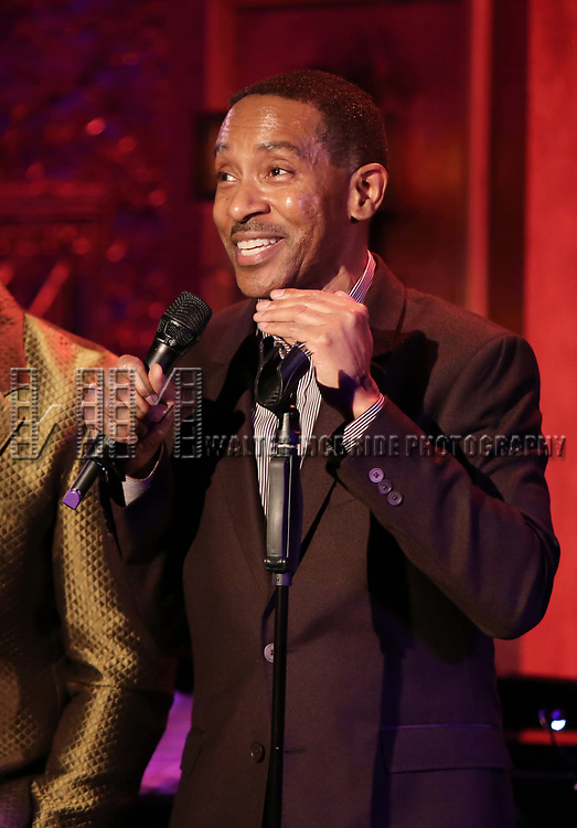 """Charles Randolph-Wright on stage during a Song preview performance of the BeBe Winans Broadway Bound Musical """"Born For This"""" at Feinstein's 54 Below on November 5, 2018 in New York City."""