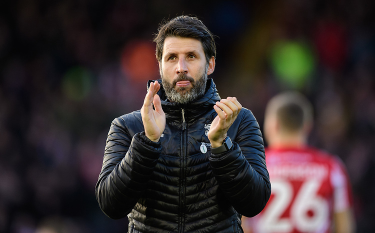 Lincoln City manager Danny Cowley<br /> <br /> Photographer Chris Vaughan/CameraSport<br /> <br /> The EFL Sky Bet League Two - Lincoln City v Newport County - Saturday 22nd December 201 - Sincil Bank - Lincoln<br /> <br /> World Copyright © 2018 CameraSport. All rights reserved. 43 Linden Ave. Countesthorpe. Leicester. England. LE8 5PG - Tel: +44 (0) 116 277 4147 - admin@camerasport.com - www.camerasport.com