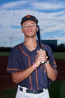 AZL Giants Black outfielder Grant McCray (40) poses for a photo before an Arizona League game against the AZL Giants Orange on July 19, 2019 at the San Francisco Giants Baseball Complex in Scottsdale, Arizona. The AZL Giants Black defeated the AZL Giants Orange 8-5. (Zachary Lucy/Four Seam Images)