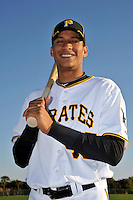 Feb 28, 2010; Bradenton, FL, USA; Pittsburgh Pirates  outfielder Gorkys Hernandez (43) during  photoday at Pirate City. Mandatory Credit: Tomasso De Rosa/ Four Seam Images