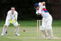Sam Samarasekera of Hornchurch Athletic in batting action - Hornchurch Athletic CC vs Galleywood CC, Essex Club Cricket at Hylands Park, Hornchurch - 18/05/13 - MANDATORY CREDIT: Rob Newell/TGSPHOTO - Self billing applies where appropriate - 0845 094 6026 - contact@tgsphoto.co.uk - NO UNPAID USE