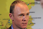 Chris Froome (GBR) speaks to the media at the Tour de France 2020 route presentation held in the Palais des Congrès de Paris (Porte Maillot), Paris, France. 15th October 2019.<br /> Picture: Eoin Clarke | Cyclefile<br /> <br /> All photos usage must carry mandatory copyright credit (© Cyclefile | Eoin Clarke)