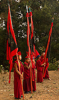 Buddhist Lama Monks in a ritual during Losar, Sikkim, India