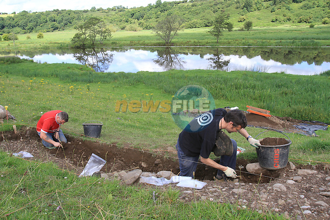 Archaelogical find at  Ros Na Ri..Picture Fran Caffrey/www.newsfile.ie