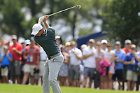 Rory McIlroy (NIR) plays his 2nd shot on the 1st hole Saturday's Round 3 of the 2017 PGA Championship held at Quail Hollow Golf Club, Charlotte, North Carolina, USA. 12th August 2017.<br /> Picture: Eoin Clarke | Golffile<br /> <br /> <br /> All photos usage must carry mandatory copyright credit (&copy; Golffile | Eoin Clarke)