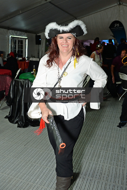 NELSON, NEW ZEALAND - SEPTEMBER 26: Shipwrecked Ahoy Party at Party Central Games Village Marquee at Saxton during the NZCT 2015 South Island Masters Games, September 26, 2015 in Nelson, New Zealand. (Photo by Barry Whitnall/Shuttersport Limited)
