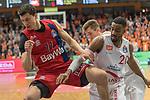 10.03.2019, RASTA Dome 2.0, VECHTA, GER, easycredit-bbl, RASTA Vechta vs  FC Bayern M&uuml;nchen, im Bild<br /> <br /> Vladimir Lucic (Bayern Muenchen BBL #11)<br /> Austin Hollins (USA) (Rasta Vechta #20)<br /> Foto &copy; nordphoto / Kokenge