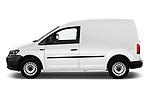 Car driver side profile view of a 2019 Volkswagen Caddy Van Base 4 Door Car van