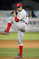July 10th 2008:  Relief pitcher Stephen Fife of the Lowell Spinners, Class-A affiliate of the Boston Red Sox, during a game at Dwyer Stadium in Batavia, NY.  Photo by:  Mike Janes/Four Seam Images