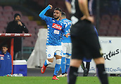 2nd February 2019, Stadio San Paolo, Naples, Italy; Serie A football, Napoli versus Sampdoria; Lorenzo Insigne of Napoli celebrates after scoring in the 26th minute for 2-0