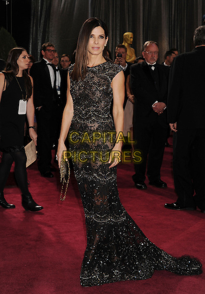 Sandra Bullock.85th Annual Academy Awards held at the Dolby Theatre at Hollywood & Highland Center, Hollywood, California, USA..February 24th, 2013.oscars full length black dress beads beaded lace .CAP/ROT/TM.©Tony Michaels/Roth Stock/Capital Pictures