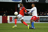 Rene Steer of Maidenhead and Chike Kandi of Dagenham during Dagenham & Redbridge vs Maidenhead United, Vanarama National League Football at the Chigwell Construction Stadium on 7th December 2019