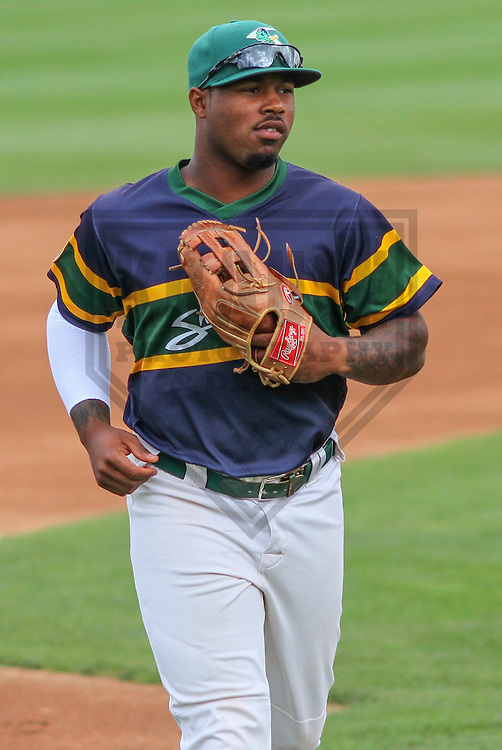 BELOIT - September 2014: B.J. Boyd (23) of the Beloit Snappers during a game against the Wisconsin Timber Rattlers on September 1st, 2014 at Pohlman Field in Beloit, Wisconsin.  (Photo Credit: Brad Krause)