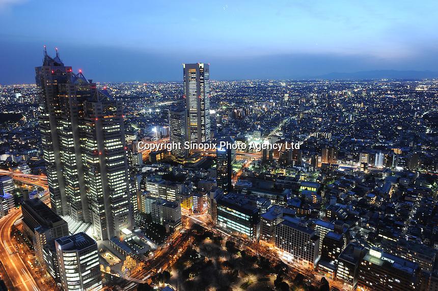 The Shinjuku Skyscraper District, Tokyo, Japan. Shinjuku has for hundreds of years been an important district, the Skyscraper District was Tokyo's first major skyscraper development area..05 Jan 2011. .