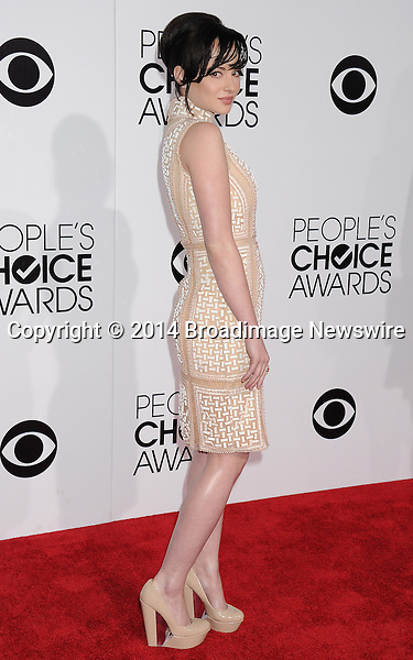 Pictured: Ashley Rickards<br /> Mandatory Credit &copy; Gilbert Flores /Broadimage<br /> 2014 People's Choice Awards <br /> <br /> 1/8/14, Los Angeles, California, United States of America<br /> Reference: 010814_GFLA_BDG_277<br /> <br /> Broadimage Newswire<br /> Los Angeles 1+  (310) 301-1027<br /> New York      1+  (646) 827-9134<br /> sales@broadimage.com<br /> http://www.broadimage.com