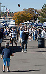 October 22, 2011:  Fans play catch with a football while tailgating before the Nevada Wolf Pack and Fresno State Bulldogs WAC league game played at Mackay Stadium in Reno, Nevada.