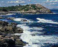 Surf on the Atlantic Ocean at Schooner Head; Acadia National Park, ME