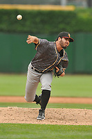 Quad Cities River Bandits pitcher Humberto Castellanos (46) a pitch against the Peoria Chiefs at Dozer Park on June 11, 2018 in Peoria, Illinois. The Chiefs won 1-0.  (Dennis Hubbard/Four Seam Images)