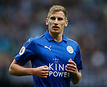 Marc Albrighton of Leicester City during the English Premier League match at the Etihad Stadium, Manchester. Picture date: May 13th 2017. Pic credit should read: Simon Bellis/Sportimage