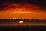 sunset at Pescadero, CA